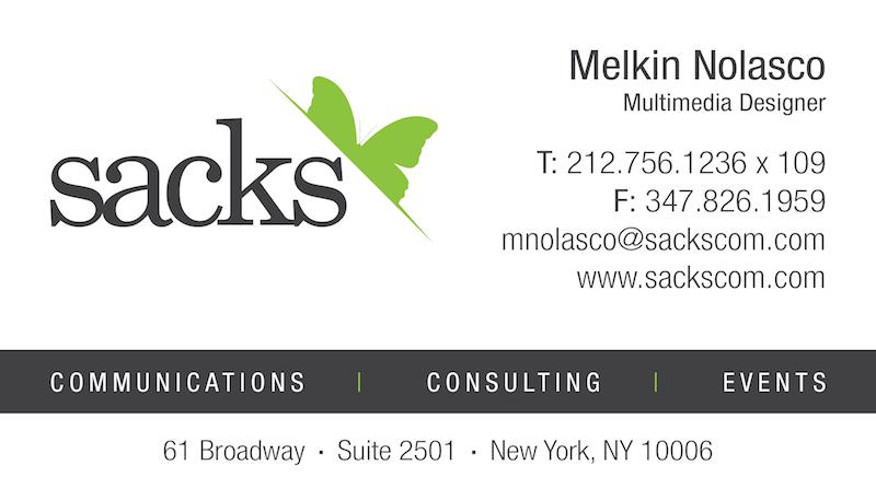 fdfb3cb8a972a4 Sacks Business Card .